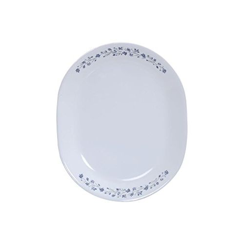Corelle Lilac Blush Glass Dinner Set, 21-Pieces, White and Blue