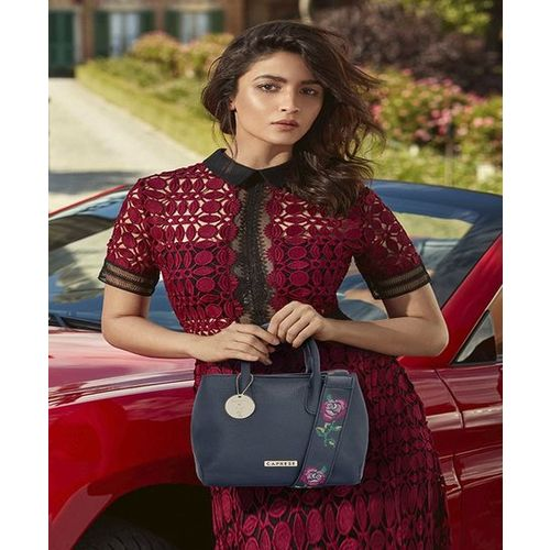 Caprese Alia Bhatt's Collection Larisa Navy Handbag