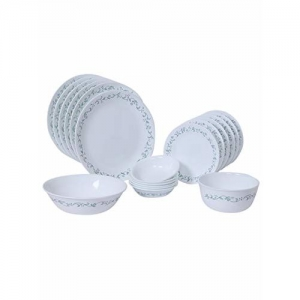 Corelle 20 Piece Livingware Dinnerware Set with Storage,Country Cottage