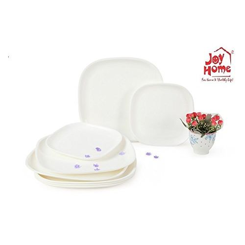 Joy Home Microwave Safe Dinner Set-32 Pcs Square White