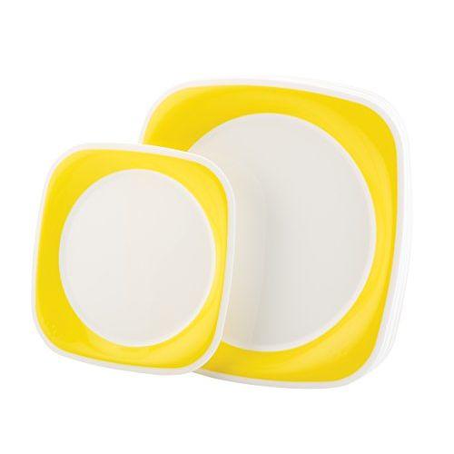 Joy Home Microwave Safe Dinner Set-32 Pcs Twin Colour Yellow