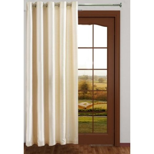 Red Hot 270 cm (9 ft) Polyester Long Door Curtain Single Curtain(Plain, White)
