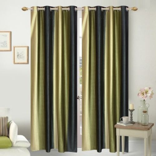 Red Hot 210 cm (7 ft) Polyester Door Curtain (Pack Of 2)(Abstract, Green)