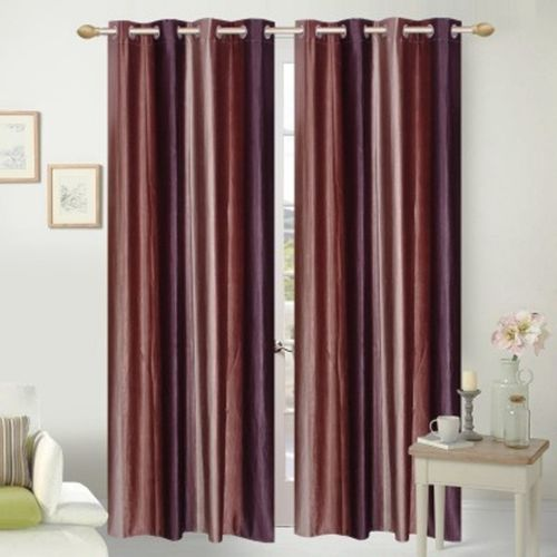 Red Hot 270 cm (9 ft) Polyester Long Door Curtain (Pack Of 2)(Abstract, Brown)