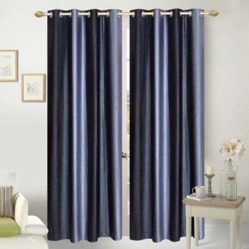 Red Hot 270 cm (9 ft) Polyester Long Door Curtain (Pack Of 2)(Abstract, Black)