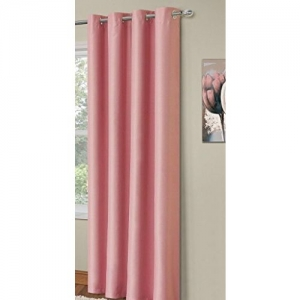 RED HOT Pink Polyester Single Curtain 7 Ft