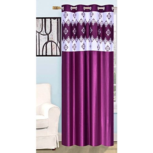 RED HOT Polyester Single 4X5 ft Window Curtain (Purple)