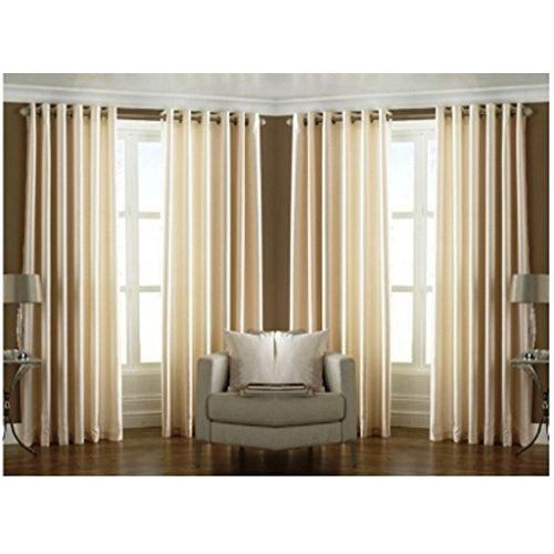 RED HOT Cream Polyester Curtain Set of 4