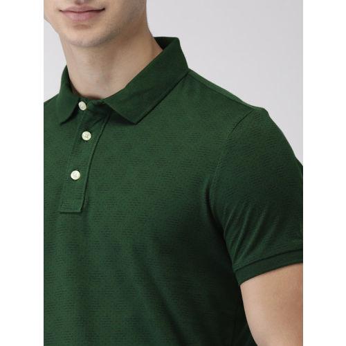 Arrow Sport Men Green Printed Polo Collar T-shirt