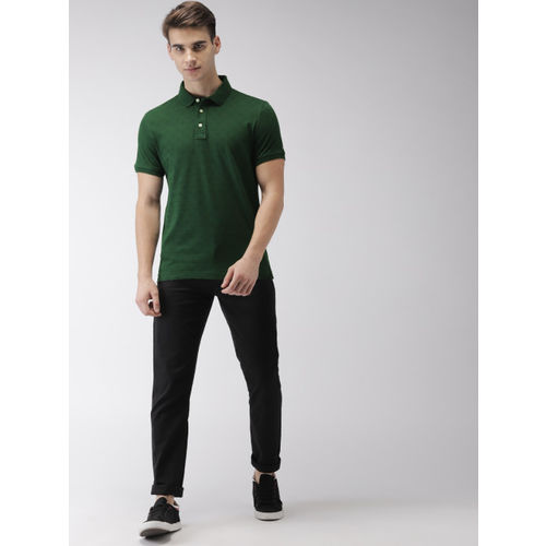 Arrow Sport Men Green Printed Polo Collar T-shirt