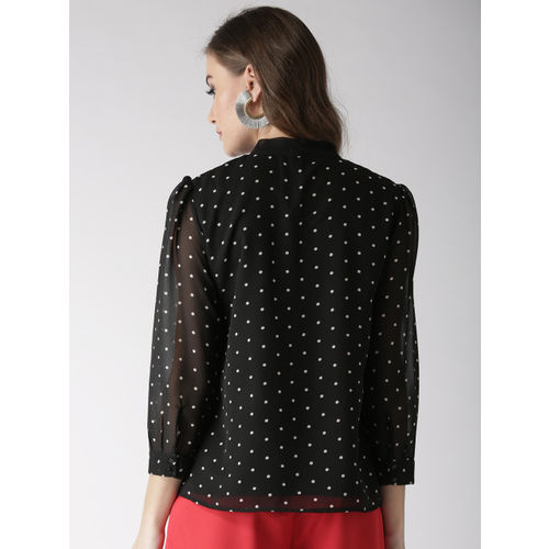 Antheaa Women Black Printed Top