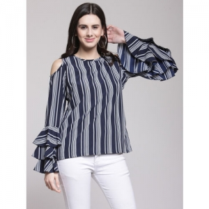 c99ab6c960bf95 Buy Gia curve by Westside Navy Striped T-Shirt online | Looksgud.in