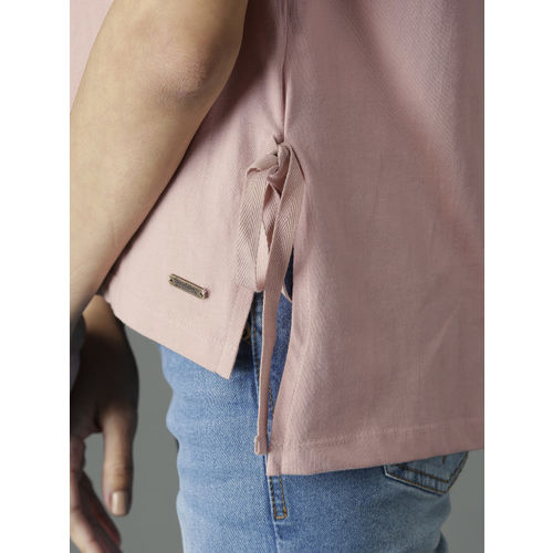 Roadster Women Pink Solid Top