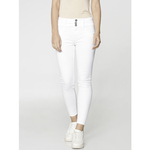 ONLY White Piper Skinny Fit High-Rise Jeggings