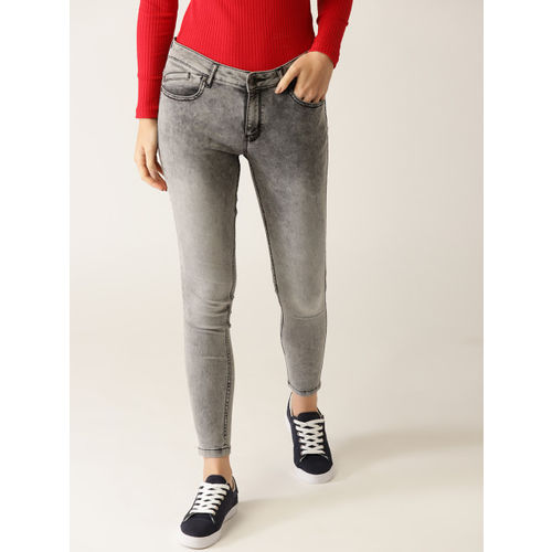 United Colors of Benetton Women Grey Washed Jeggings
