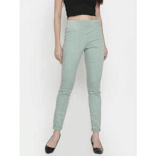 Vero Moda Green Slim Fit Jeggings