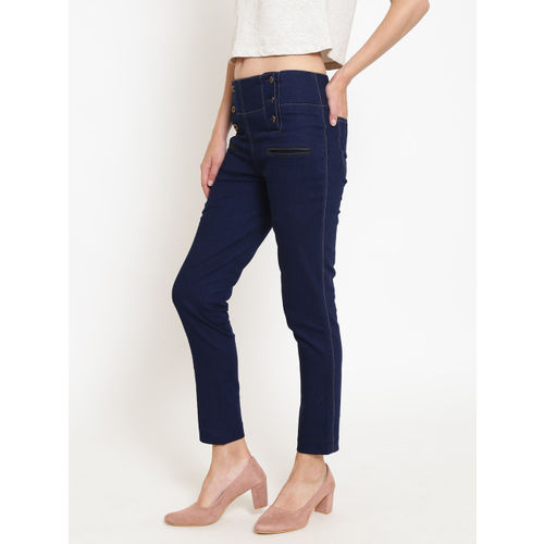 Rider Republic Women Navy Blue High-Rise Jeggings