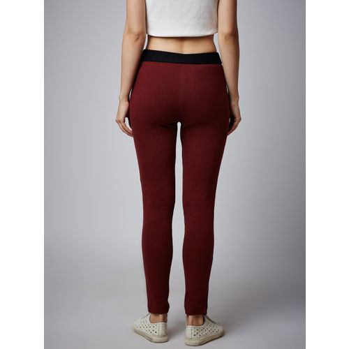 Rider Republic Women Maroon Jeggings