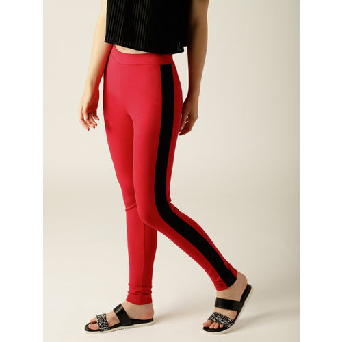 United Colors of Benetton Women Red Solid Treggings