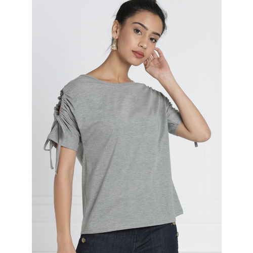all about you from Deepika Padukone Grey Solid Top