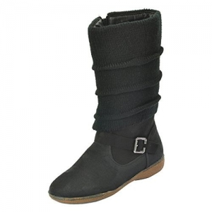 Shuberry Women's Latest Collection, Comfortable & Fashionable Black Slouch Boots - 38 EU