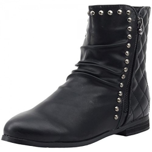 Shuberry Women's Latest Collection, Comfortable & Fashionable Black Artificial Leather Boots - 35 EU