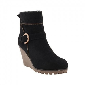 Bruno Manetti Women Suede Black Boots