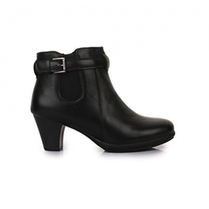 Bruno Manetti Women Black Synthetic Leather Boots