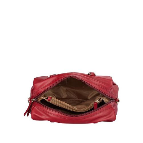 Caprese Red PU Printed Satchel