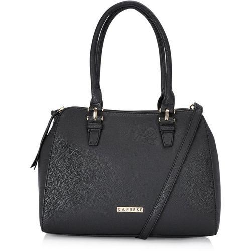 Caprese Black Polyurethane Hand-held Bag