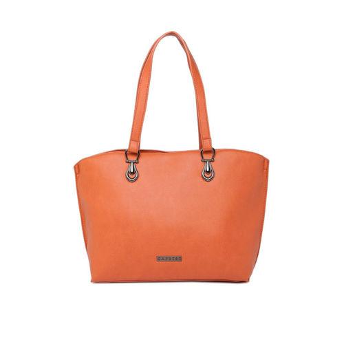 Caprese Orange Solid Shoulder Bag
