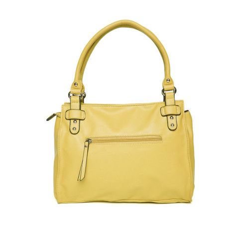 Caprese Yellow Solid Shoulder Bag