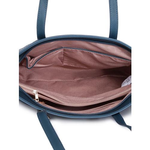 Caprese Teal Blue Solid Shoulder Bag