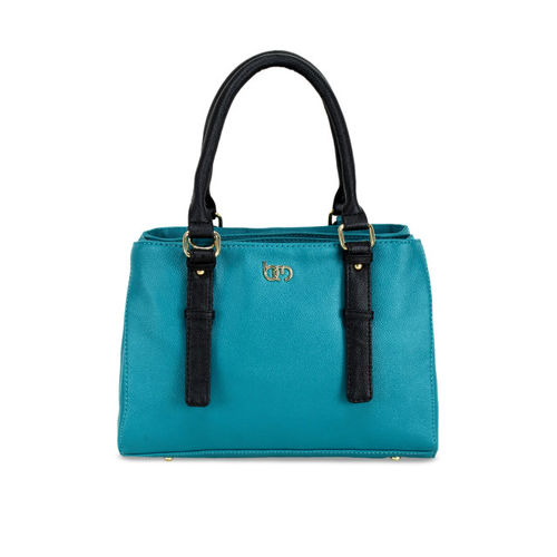 Bagsy Malone Turquoise Blue Solid Handheld Bag