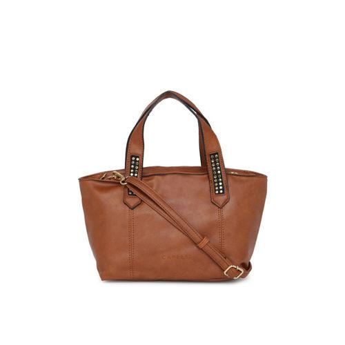 Caprese Tan Solid Handheld Bag