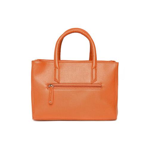 Caprese Orange Solid Handheld Bag