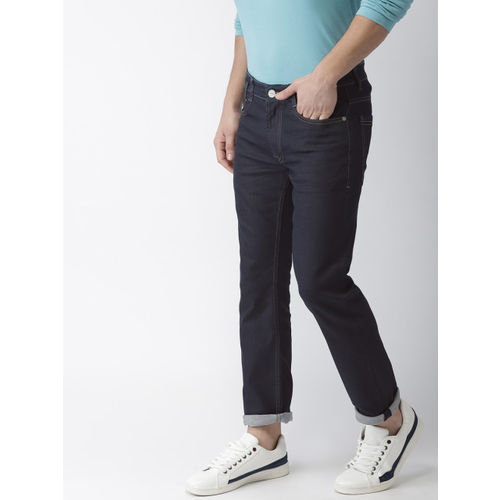 Mast & Harbour Men Blue Slim Tapered Fit Mid-Rise Clean Look Stretchable Jeans