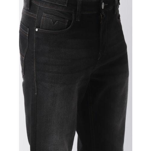 Mast & Harbour Men Black Carrot Regular Fit Mid-Rise Clean Look Jeans
