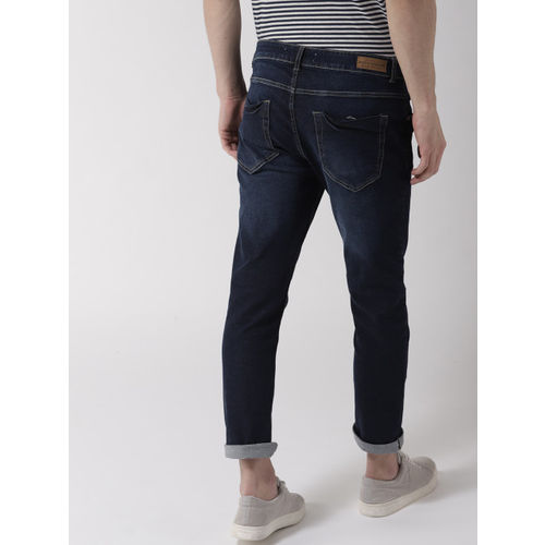 Mast & Harbour Men Navy Blue Skinny Fit Mid-Rise Clean Look Stretchable Jeans