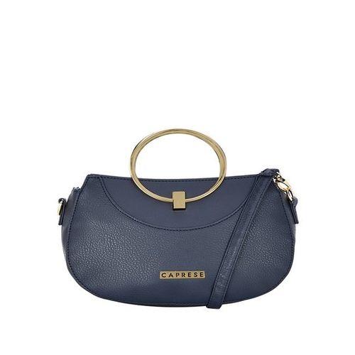 Caprese Anida Navy Solid Handbag