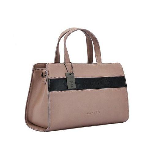 Caprese Alia Bhatt's Collection Kate Taupe Pink & Black Handbag