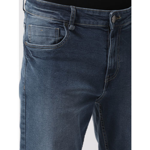 Mast & Harbour Men Blue Tapered Fit Mid-Rise Clean Look Stretchable Jeans