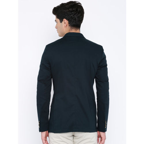 Mast & Harbour Navy Single-Breasted Casual Blazer