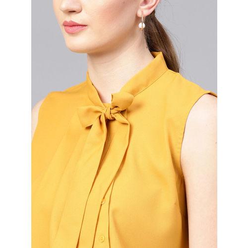 STREET 9 Women Mustard Yellow Solid Top