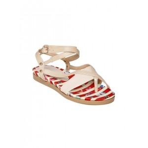 DressBerry Women Beige Sandals