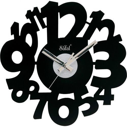 Safal Analog 30 cm X 30 cm Wall Clock(Brown, Without Glass)