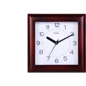 Safal Analog 5 cm X 20 cm Wall Clock(Brown, With Glass)