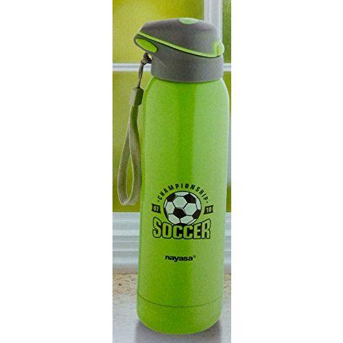 Nayasa Superplast Urban Stainless Steel Water Bottle, 500 ml, Green