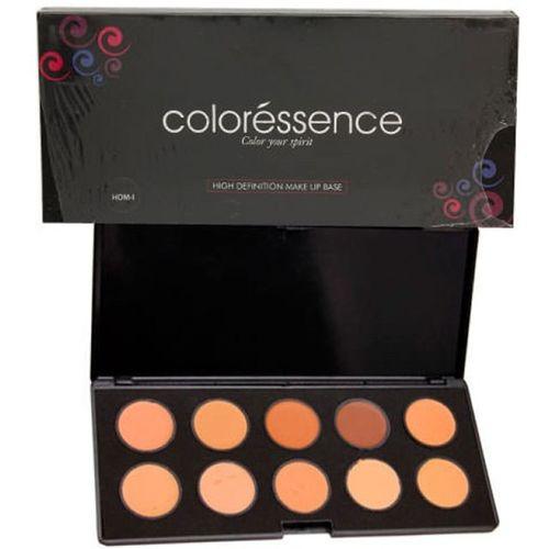 Coloressence High Definition Make-up Base Pallate Foundation(HDM-I (10shades))