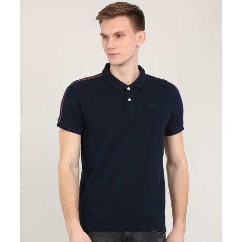 Arrow Sport Solid Men Polo Neck Blue T-Shirt